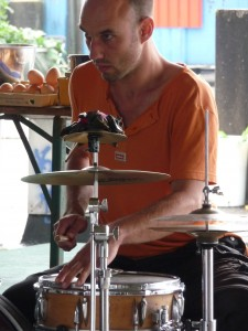 robbert on drums